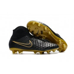 New 2017 Nike Magista Obra 2 FG ACC Football Cleat Black Gold