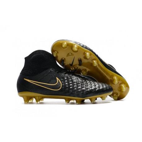 New 2017 Nike Magista Obra 2 FG ACC Football Cleat Black Gold