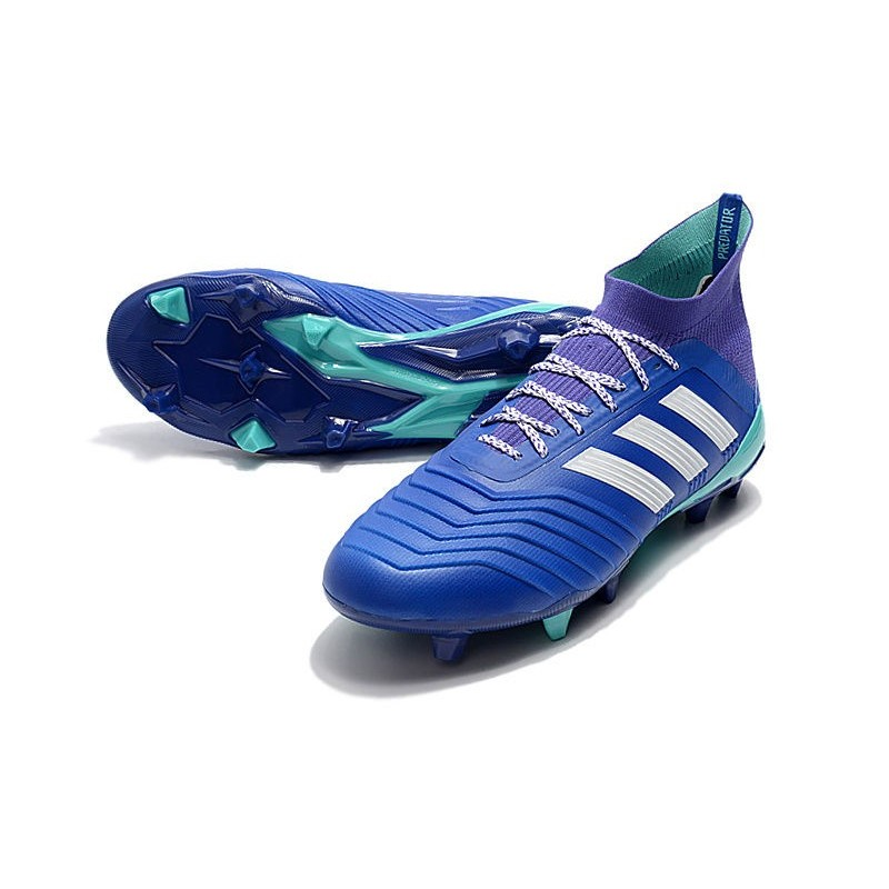 7afe9ae1375 New adidas Predator 18.1 FG Soccer Shoes Blue White Maximize. Previous. Next