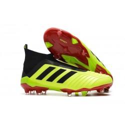 adidas Men's Predator 18+ FG Soccer Boots Fluo Red Black