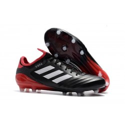 adidas Men's Copa 18.1 FG Soccer Cleats Black White Red