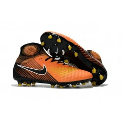 New 2017 Nike Magista Obra 2 FG ACC Football Cleat Orange Black