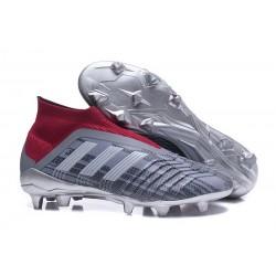adidas Men's Predator 18+ FG Soccer Boots Pogba Gray Red