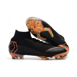 New 2018 Nike Mercurial Superfly VI 360 Elite FG Black Orange