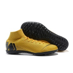Nike Mercurial Superfly 6 Elite Turf Boots Golden Black