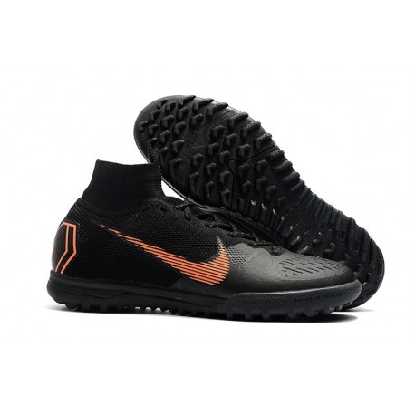 Nike Mercurial Superfly 6 Elite Turf Boots Black Gold