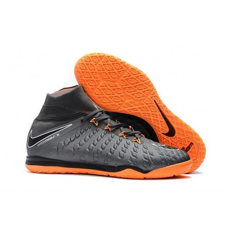 Nike HypervenomX Proximo II DF IC Mens Boots Grey Orange