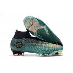 New 2018 Ronaldo Nike Mercurial Superfly VI 360 Elite FG Jade Black Gold