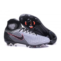 New 2017 Nike Magista Obra 2 FG ACC Football Cleat Grey Black