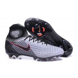 New 2017 Nike Magista Obra 2 FG ACC Football Cleat Grey Black