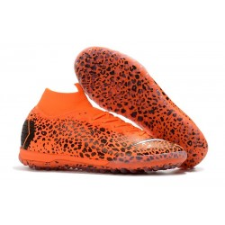 Ronaldo Nike Mercurial SuperflyX 6 Elite CR7 TF Football Shoes - Safari Orange Black