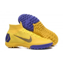 Nike Mercurial SuperflyX 6 Elite TF Football Shoes - Yellow Blue