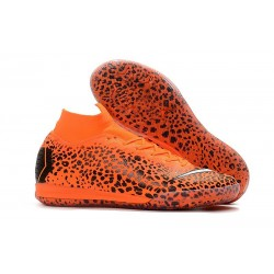 Ronaldo Nike Mercurial SuperflyX 6 Elite IC Futsal Safari Orange Black