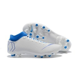 Nike Mercurial Superfly 6 Elite AG-Pro Soccer Boots White Blue