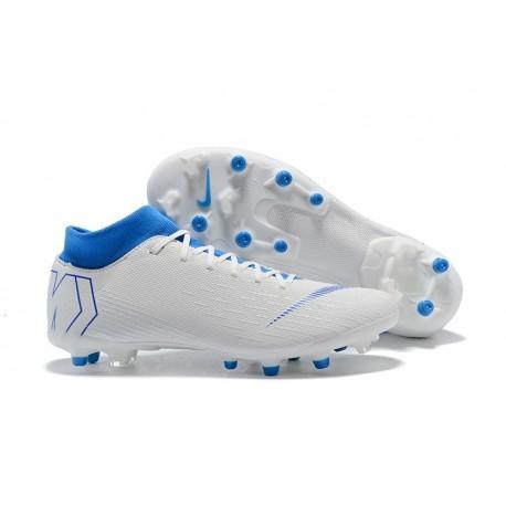 Nike Mercurial Superfly 6 Elite AG-Pro Soccer Boots White Blue