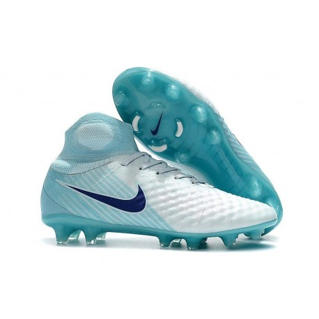 Nike Magista Obra 2 FG Firm Ground Football Shoes - White Blue