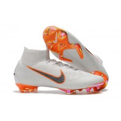New 2018 Nike Mercurial Superfly VI 360 Elite FG White Grey Orange