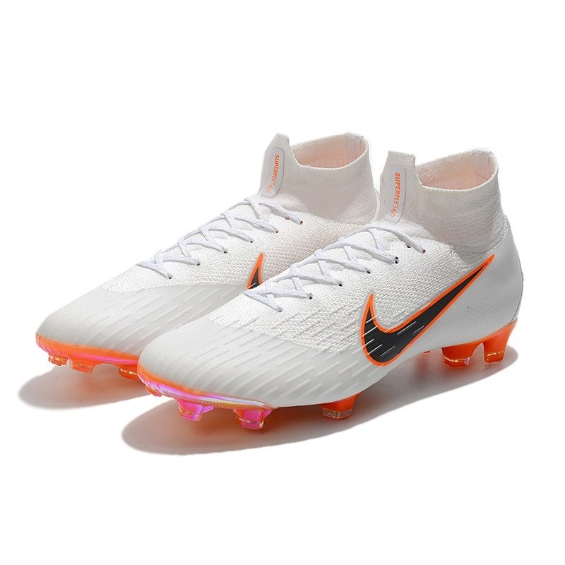 New 2018 Nike Mercurial Superfly VI 360 Elite FG White Grey Orange  Maximize. Previous. Next