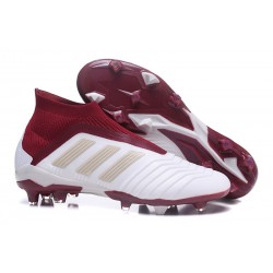 adidas Men's Predator 18+ FG Soccer Boots White Red
