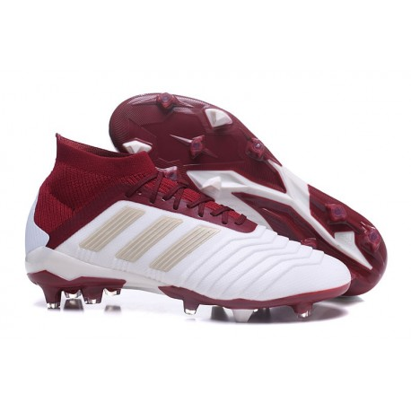 New 2018 adidas Predator 18.1 FG Soccer Shoes White Red 06802b7183aa7