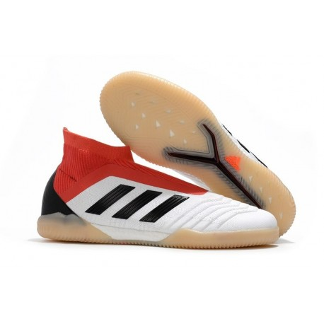 adidas PP Predator Tango 18+ IN Indoor Shoes - White Red Black