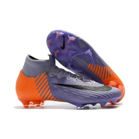 brand new bcba4 2bdc1 New 2018 Nike Mercurial Superfly VI 360 Elite FG Purple Orange