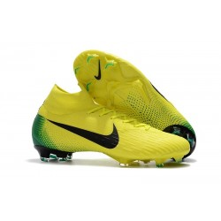 New 2018 Nike Mercurial Superfly VI 360 Elite FG Yellow Black