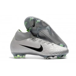 Nike Mercurial Superfly 6 Elite FG Firm Ground Cleats - Silver Black