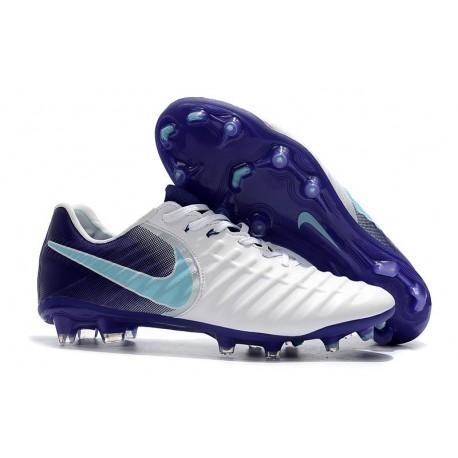 Nike Tiempo Legend VII FG Firm Ground Cleats - White Purple