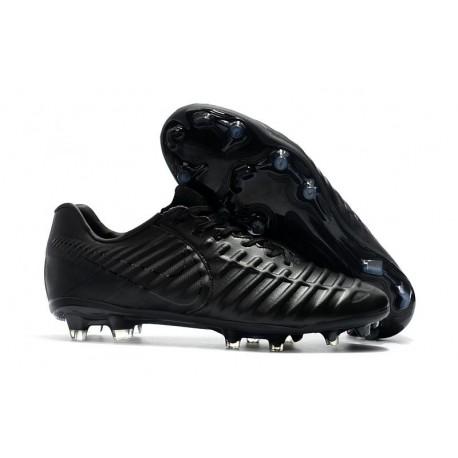 Nike Tiempo Legend VII FG Firm Ground Cleats - Full Black