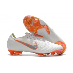 New World Cup 2018 Nike Mercurial Vapor XII FG Cleats - White Orange
