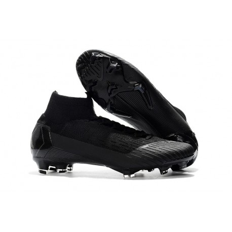 Nike Mercurial Superfly 6 Elite FG Firm Ground Cleats - Full Black