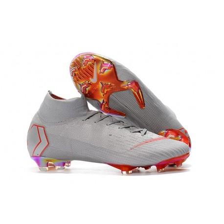 qualità autentica vendite speciali scarpe originali Nike Mercurial Superfly 6 Elite FG Firm Ground Cleats - Grey Red