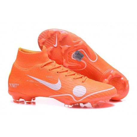 Nike Mercurial Superfly 6 Elite FG Firm Ground Cleats Off-white Orange