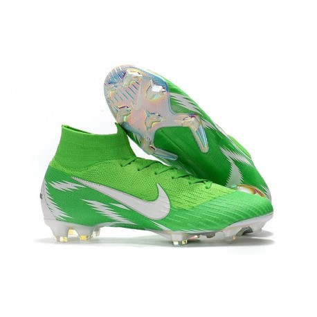 Nike Mercurial Superfly VI Elite FG World Cup 2018 Boots Green White