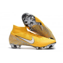 Nike Mercurial Superfly VI Elite FG Neymar World Cup 2018 Boots Yellow White