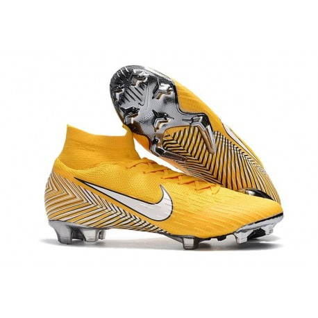 cabf707a8f39 Nike Mercurial Superfly VI Elite FG Neymar World Cup 2018 Boots Yellow White