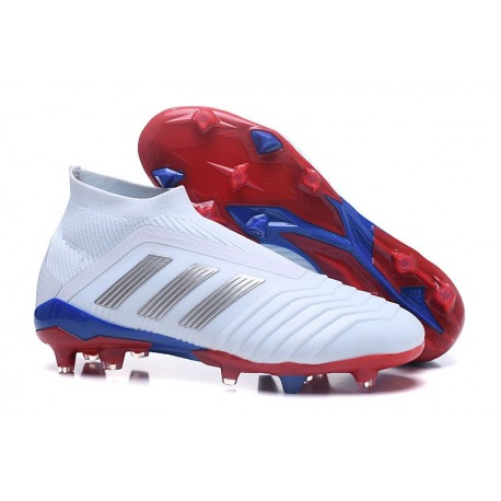 adidas Men's Predator 18+ FG Soccer Boots Russian Team White Silver