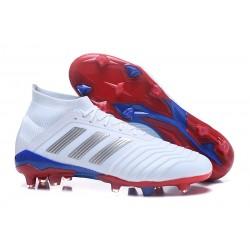 New adidas Predator 18.1 Telstar FG Soccer Shoes White Silver
