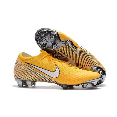 57d1ddcc3ddf New World Cup 2018 Neymar Nike Mercurial Vapor XII FG Cleats - Yellow White