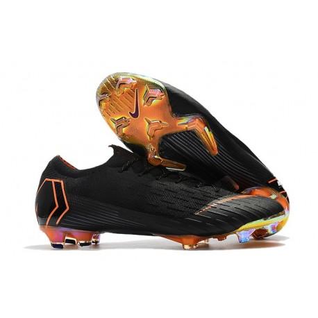 New World Cup 2018 Nike Mercurial Vapor XII FG Cleats - Black Orange