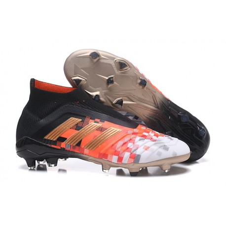 adidas Men's Predator 18+ Telstar FG Soccer Boots Black Copper Grey