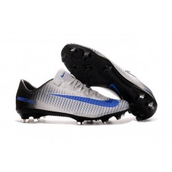 Nike Ronaldo Mercurial Vapor XI FG Football Shoes White Blue