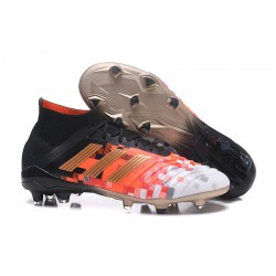 New adidas Predator 18.1 FG Soccer Shoes Black Copper Red