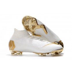 Nike Mercurial Superfly VI Elite FG World Cup 2018 Boots White Golden