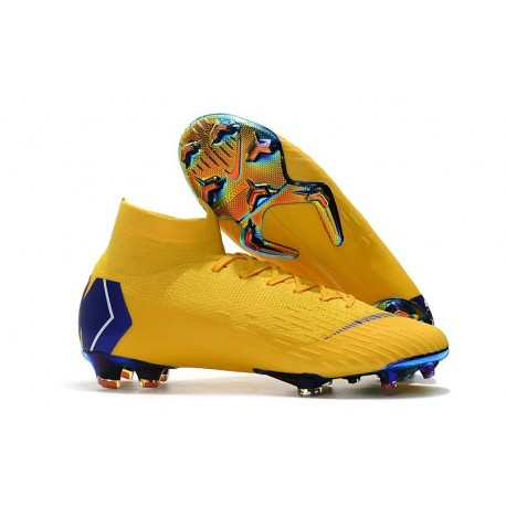 Nike Mercurial Superfly VI Elite FG World Cup 2018 Boots Yellow Blue