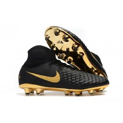 Nike Magista Obra 2 FG Firm Ground Football Shoes - Black Golden
