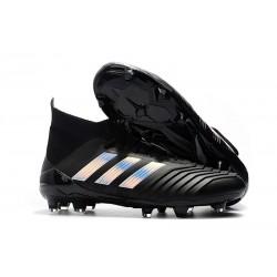 New adidas Predator 18.1 FG Soccer Shoes Black Silver