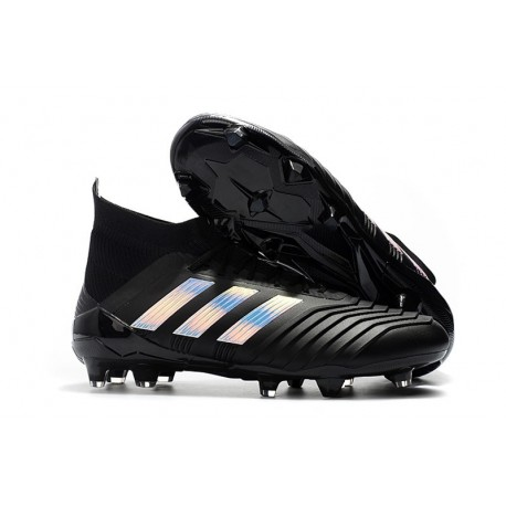 New adidas Predator 18.1 FG Soccer Shoes Black Silver