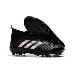 adidas Men's Predator 18+ FG Soccer Boots Black Silver